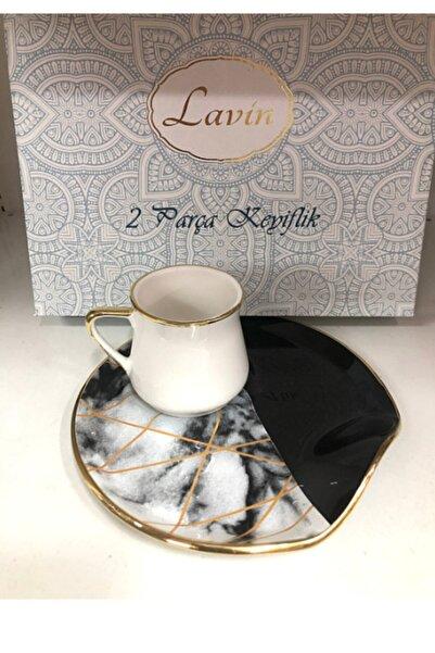 Lavin Lüx 2 Parça Keyiflik Kahve Fincan Takımı 1 Kişilik Hediyelik