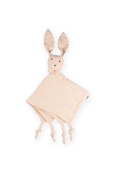 Cigit Tavşan Müslin Uyku Arkadaşı (yıkanmıştır) 40x40 cm Açık Gri