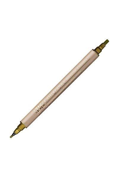 Zig Çift Uçlu Yaldızlı Kaligrafi Kalemi 2 mm + 3.5 mm 101 Metallic Gold
