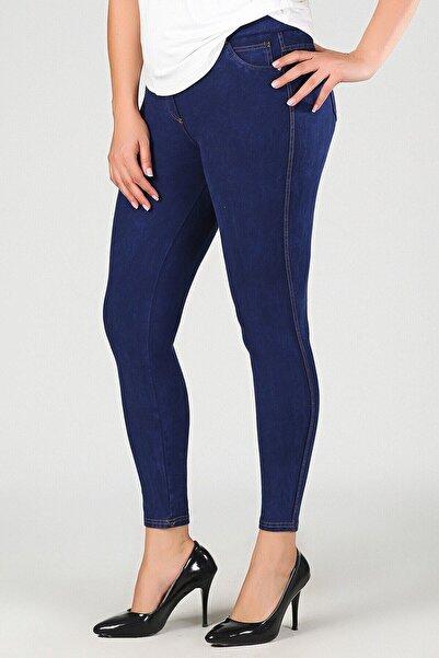 brand no:10 Kot Mavisi Toparlayıcı Büyük Beden Pantolon Tayt