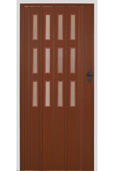 SARPAŞ Katlanır Akordiyon Pvc Kapı Ceviz Camlı 117 X 203 Cm 12 Mm
