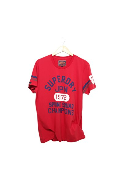 SUPERDRY Unisex Kırmızı Tshirt