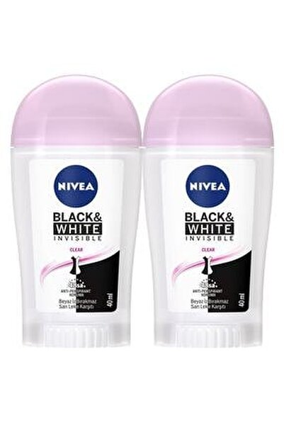 Invisible Black & White Kadın Deodorant Stick 40 ml  2'Li