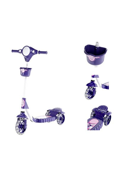 çalış toys 3 Tekerlekli Mor Frenli Çocuk Scooter