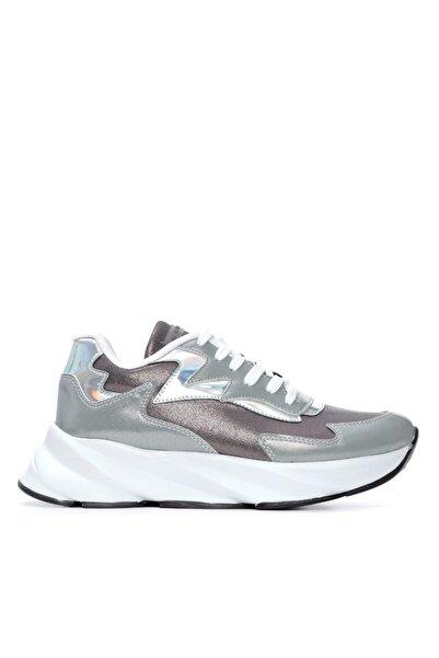KEMAL TANCA Kadın Gri Vegan Sneakers Spor Ayakkabı 625 1553  Y21