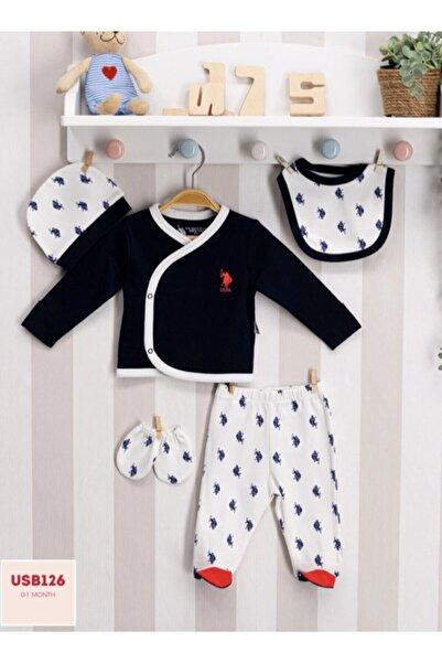 U.S. Polo Assn. Kids U.s Polo Assn. Bebek 5'li Zıbın Takımı Yenidoğan Set