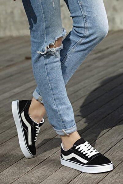 Unisex Siyah Günlük Ortopedik Sneaker D044