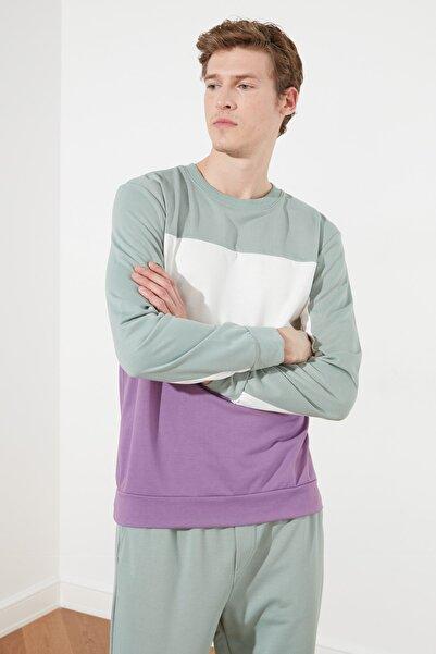 TRENDYOL MAN Mint Erkek Regular Fit Sweatshirt TMNSS21SW0218