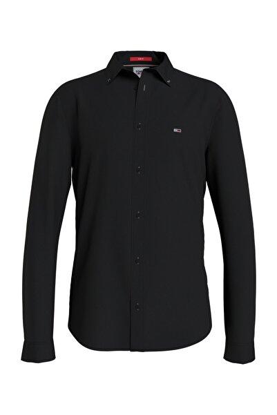 Tommy Hilfiger Erkek Siyah Tjm Slim Stretch Oxford Shirt Gömlek DM0DM09594