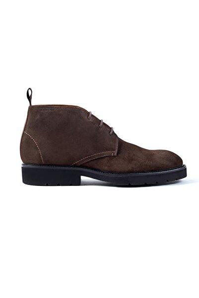Hemington Erkek  Bağcıklı El Yapımı Kahverengi Ayakkabı