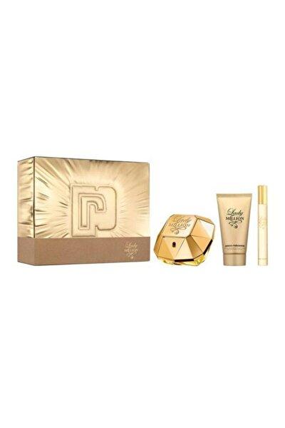 Paco  Rabanne Lady Million Edp 80 ml ve 10 ml Kadın Parfüm  + Body Lotion 100 ml 3349668582853