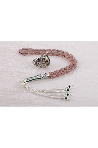 Senin Silver Osmanlı Turalı Kehribar Taşlı 925 Ayar Gümüş Yüzük Ve Zultanit Taşlı Tesbih Seti