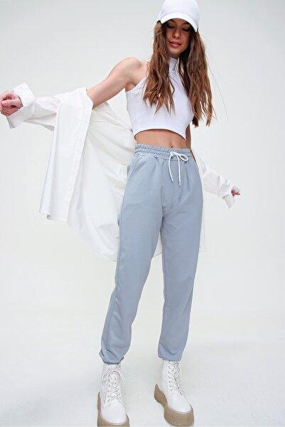 Trend Alaçatı Stili Kadın Taş Beli Ve Paçası Lastikli Basıc Eşofman Altı ALC-X5902
