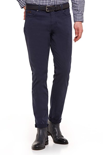 Hemington Erkek Lacivert Slim Fit Spor Kanvas Pantolon