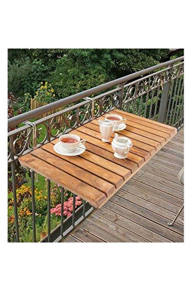 Retodesign Ahşap Katlanır Balkon Masası