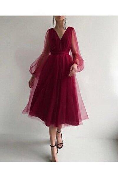 Francesca Midi Tül Elbise