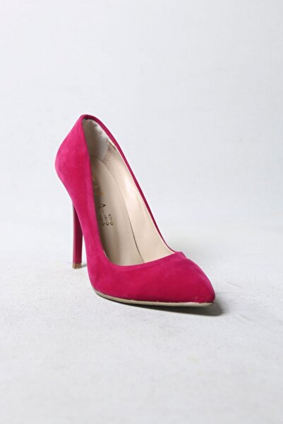 She Shoes Fuşya Stiletto Süet