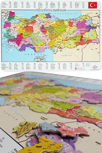 Tes Yayıncılık Türkiye Puzzle - 81 Parça Türkiye Haritası Puzzle 28x40cm
