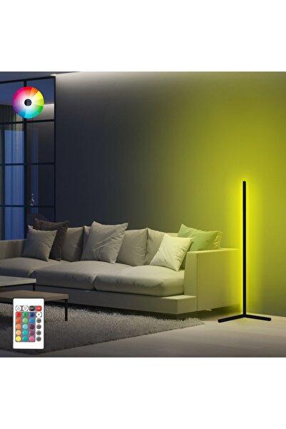 LUMOS Dekoratif Minimalist Led Lambader Animasyonlu Kumandalı 256 Renk Köşe Lambası