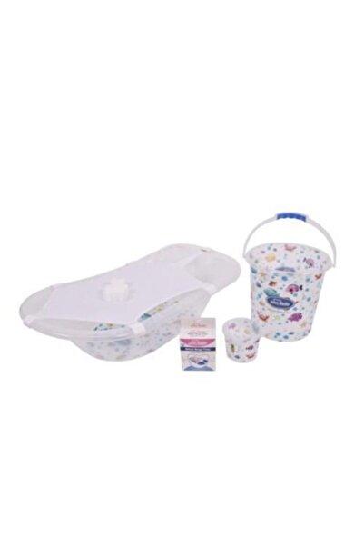 Sevi Bebe Şeffaf Desenli Bebek Banyo Küvet Seti Art-137 Beyaz