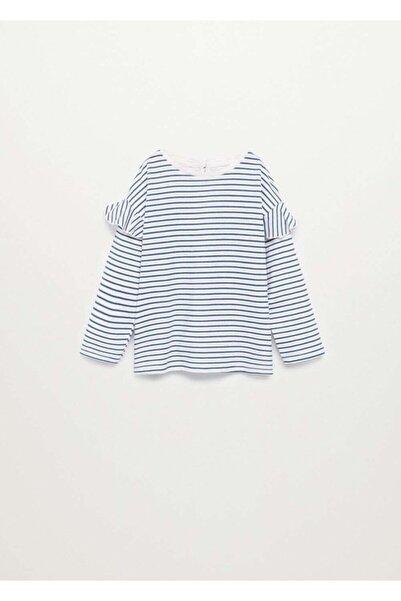 MANGO Baby Fırfırlı Uzun Kollu Tişört