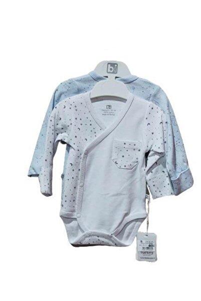 Bibaby Stars Kravuze Body 2 Li 56655 Beyaz-mavi
