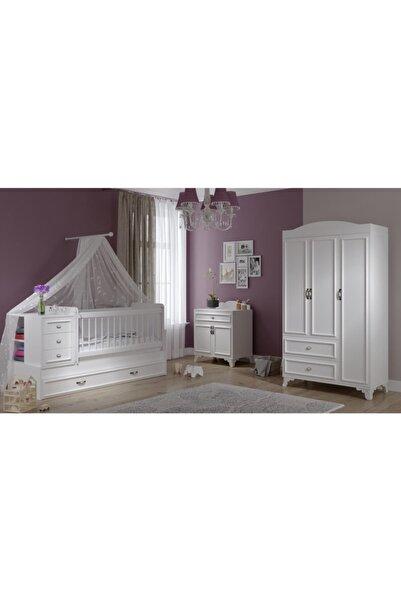 Baby Darling Beyaz Lisa Büyüyebilen Bebek Odası