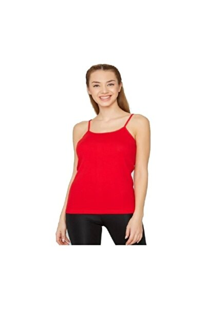 Tutku Kadın Kırmızı Ip Askılı Atlet