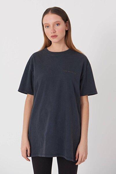 Addax Yazı Detaylı T-shirt P9519 - K8