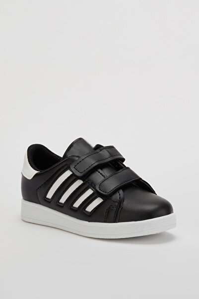MUGGO Unisex Çocuk Siyah Ayakkabı Mgroly02