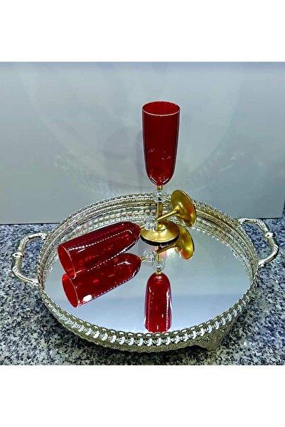 Paşabahçe Kırmızı 2 Kişilik Kahve Yanı Su Bardağı