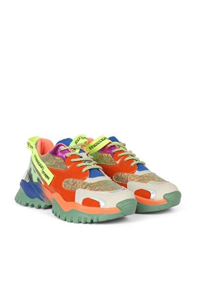 Twist Kadın Turuncu Bağcıklı Sneaker Ayakkabı