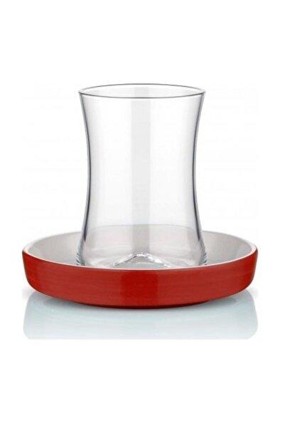 Koleksiyon1 Tiryaki Çay Seti 6 Lı Kırmızı