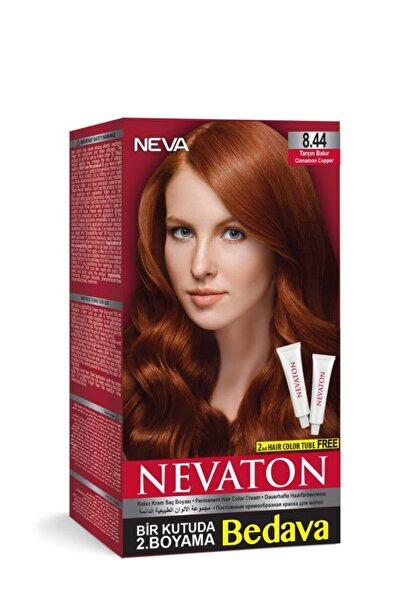 Neva Color Tarçın Bakır Kalıcı Krem Saç Boyası 8.44