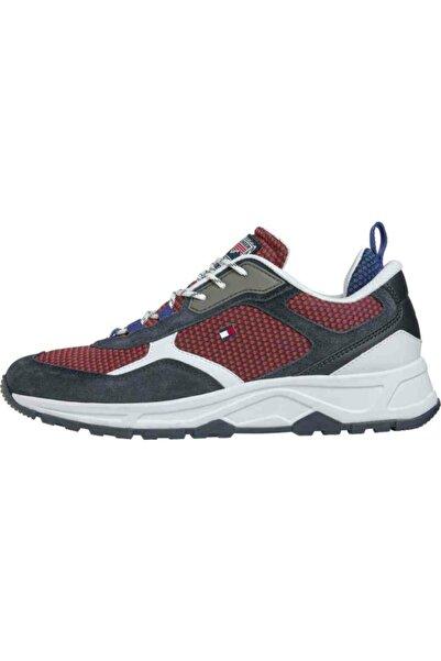 Tommy Hilfiger Erkek Kırmızı Fashıon Mıx Sneaker