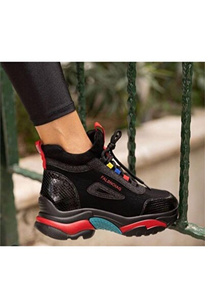 Guja 20k385 Bayan Siyah Günlük Sporbot Ayakkabı