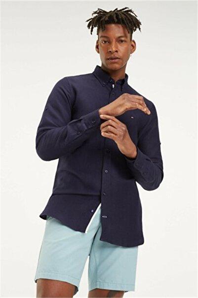 Tommy Hilfiger Erkek Slim Linen Viscose Shirt MW0MW10922