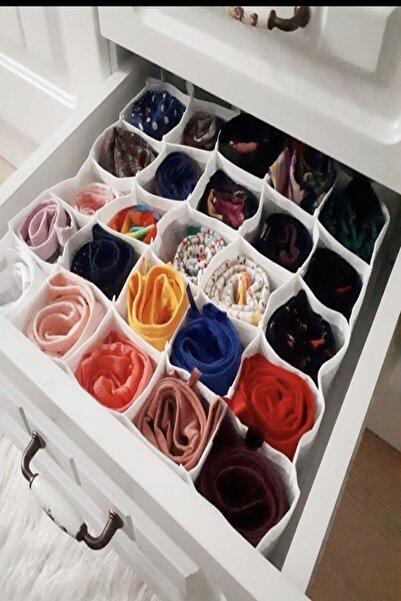 Piya Home 2 Adet 30 Gözlü Petek Organizer/düzenleyici (Çorap,iç Çamaşırı,kemer)
