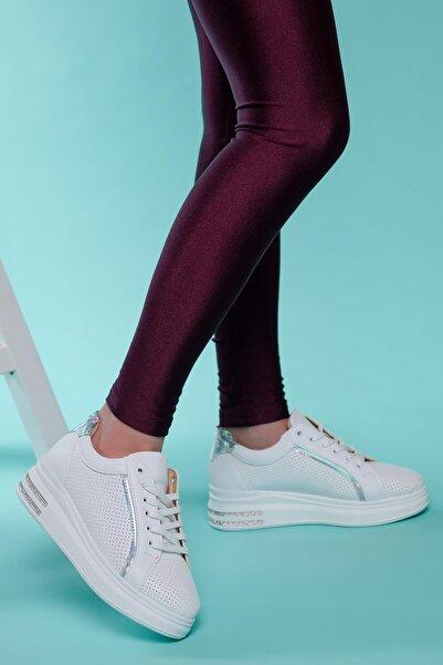 MUGGO Kadın Tabanlı Spor Ayakkabı Flrw317