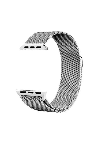 Apple Watch 3 Kordon Hasır Örgü Metal Işlemeli 44 Mm Krd-01