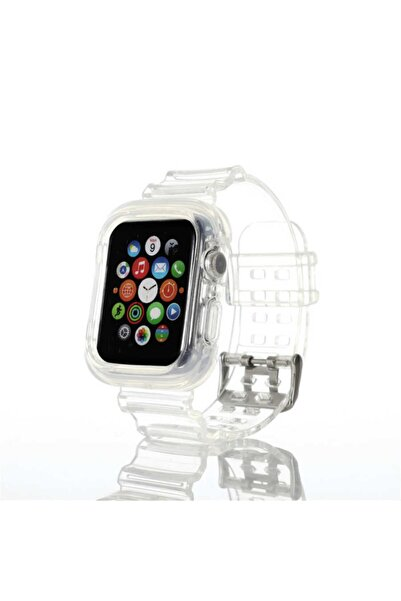 Apple Watch 5 Kordon Sağlam Delikli Silikon 44mm Krd-27