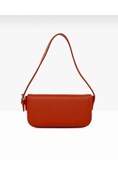 bag&more Kadın Kırmızı Kapaklı Baget Omuz Çantası