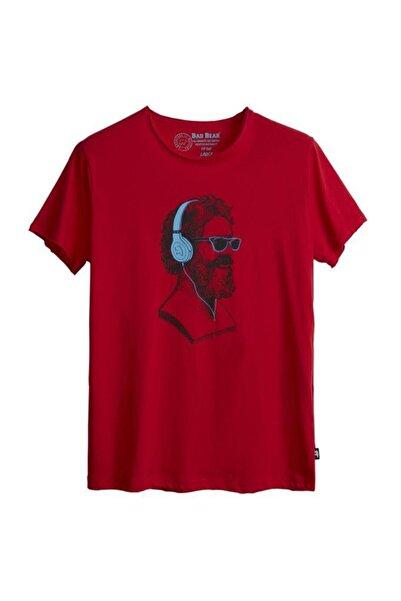 Bad Bear Erkek Kırmızı Baskılı T-Shirt