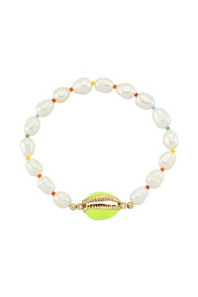 Luzdemia Sea Shell Pearl Bileklik - Açık Yeşil