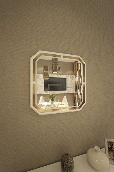 İkizlerçeyiz Kelebek Dekoratif Konsol Aynası Beyaz 50cm