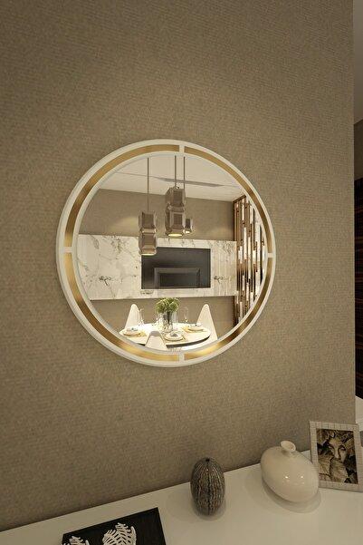 İkizlerçeyiz Armoni Dekoratif Konsol Aynası Beyaz 70cm