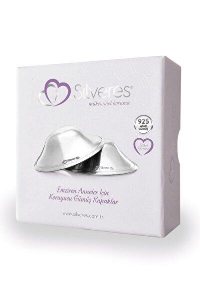 Silveres Emziren Anneler İçin Koruyucu Gümüş Kapaklar 2 Adet 925 Ayar