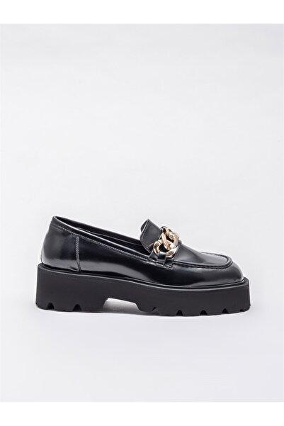Elle Siyah Kadın Loafer