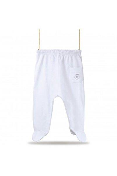 Bibaby Organik Pantolon Patikli Basic Beyaz