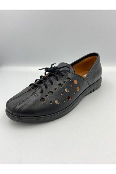 Zeyn Kadın Yazlık Deri Günlük Ayakkabı Siyah 242